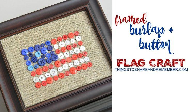 Burlap + Button Flag