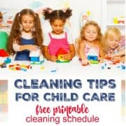 Cleaning Tips for Child Care