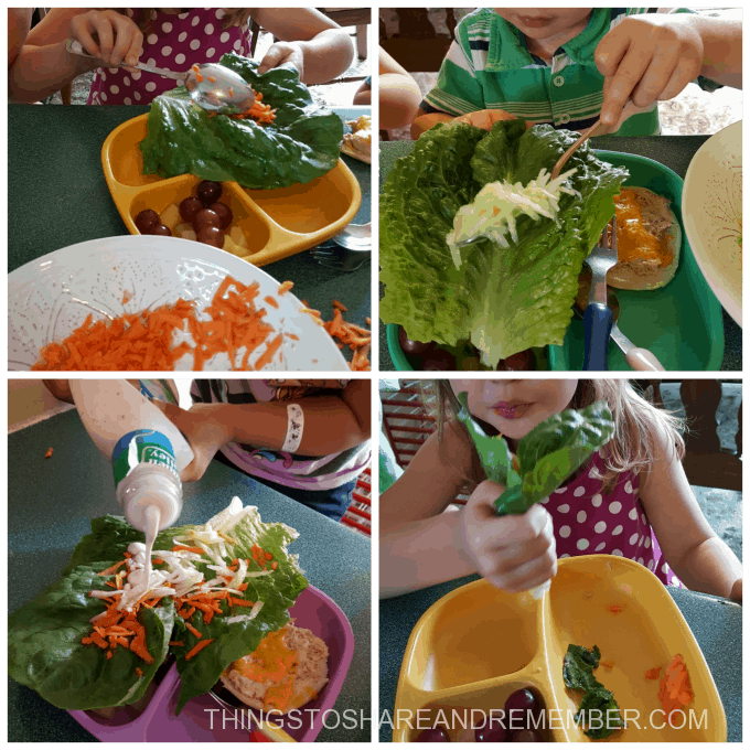 elephant leaf salad wrap collage #MGTblogger Nutrition for Kids