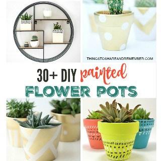 flower pots diy painted