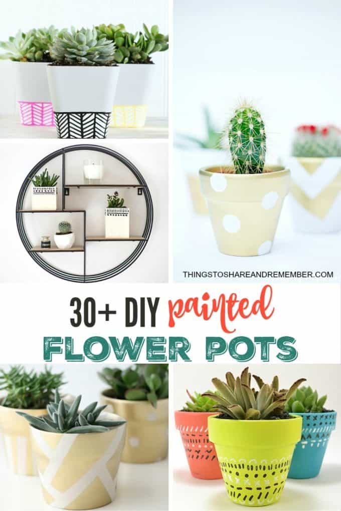 30+ DIY Painted Flower Pots Craft Ideas and tutorials