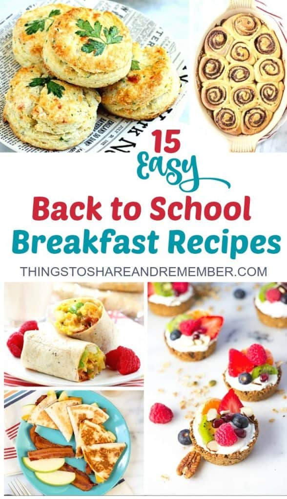 15 Easy Back to School Breakfast Recipes