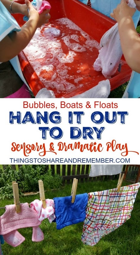 Hang it Out to Dry Sensory & Dramatic Play