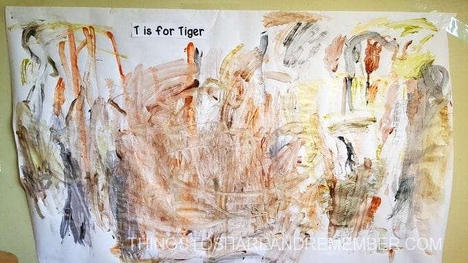 T is for Tiger Stripes
