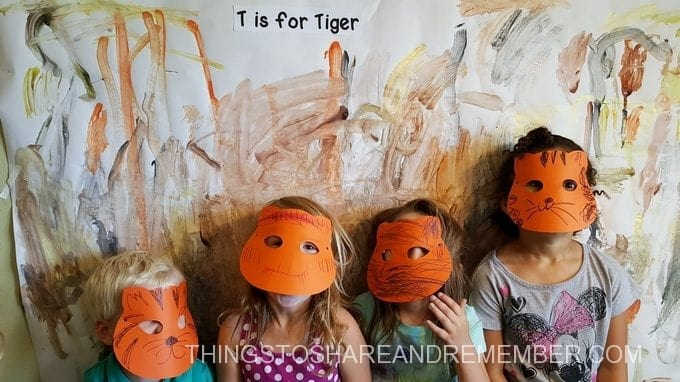 T is for tiger masks