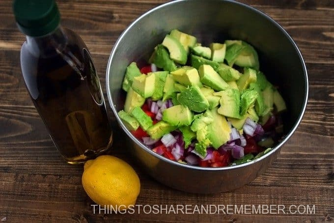 Fresh Avocado and Tomato Salad