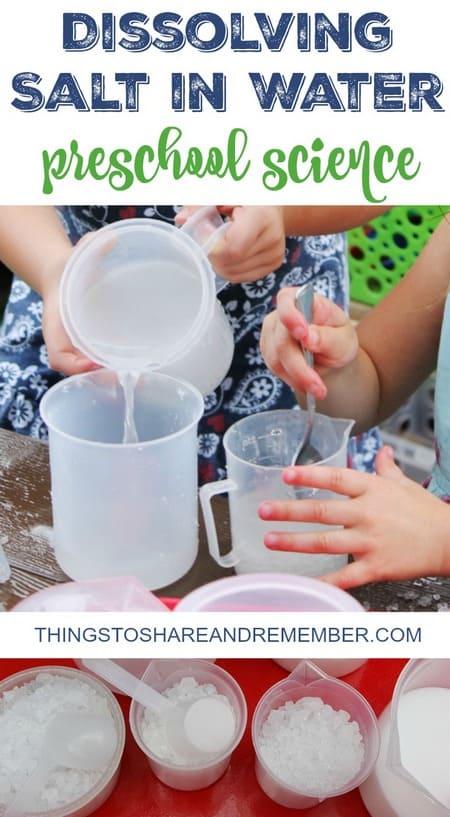 Dissolving salt in water