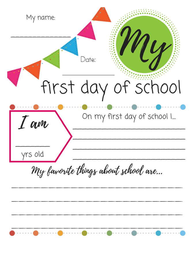 image relating to First Day of School Printable called Initially Working day of College or university Printable Signs or symptoms