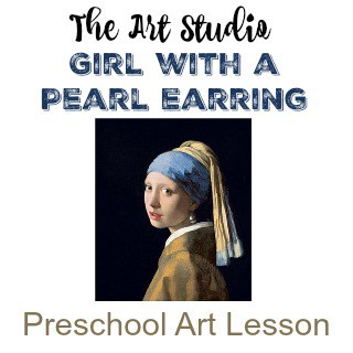 Girl with a Pearl Earring Preschool Art Lesson