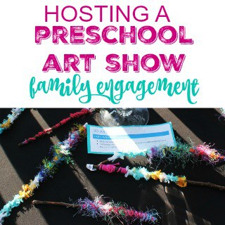 Hosting  a Preschool Art Show Family Engagement