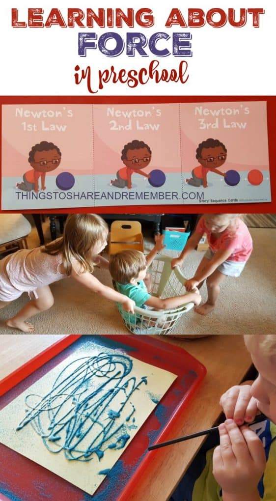 Learning About Force in Preschool #MGTblogger