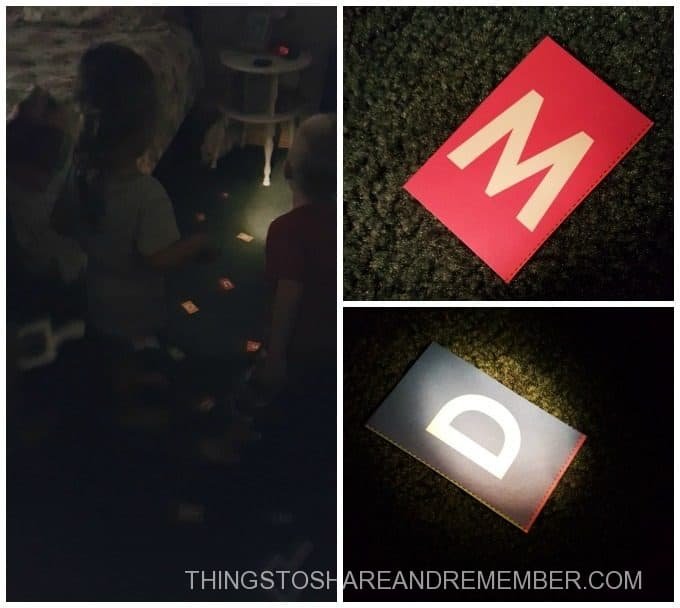 Letter Search in the Dark