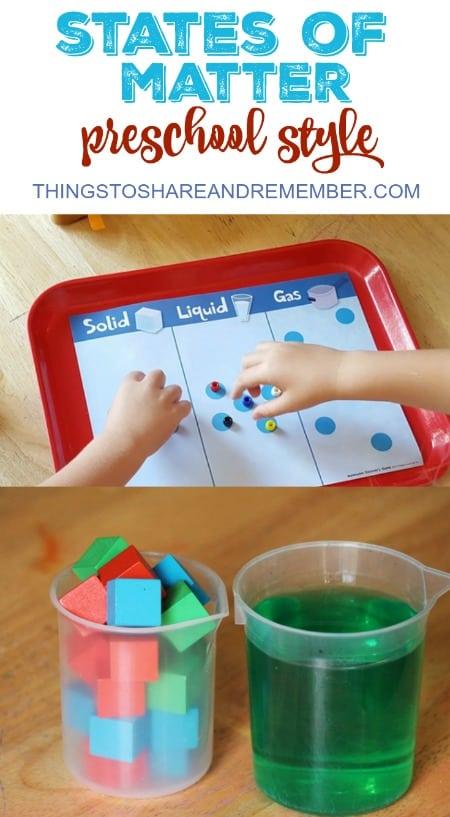 States of Matter Preschool Style