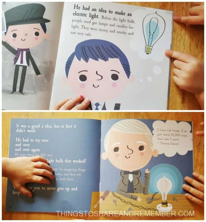Thomas Edison Book Light and Electricity Activities For Kids
