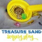 treasure sand sensory play