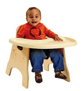High Charries low profile infant feeding chair Infants in Child Care