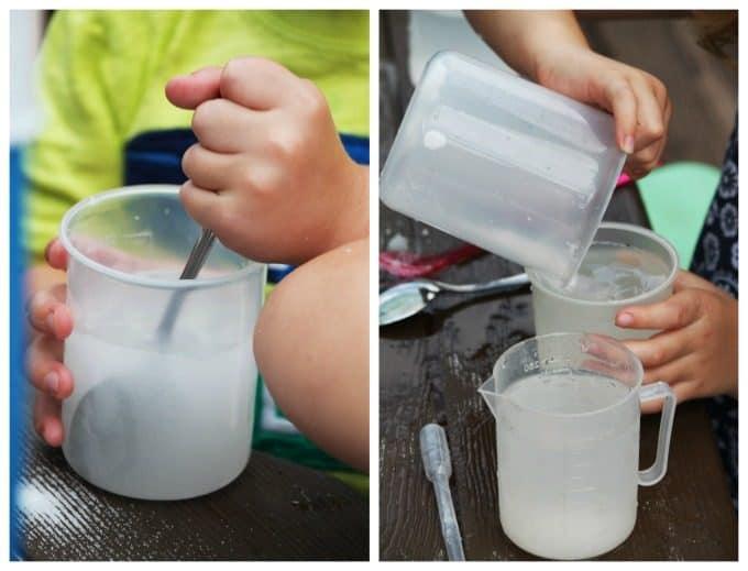 Dissolving Salt in Water Preschool Science