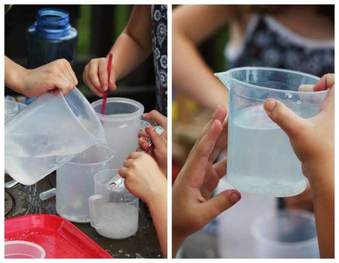 Salt water experiments in preschool
