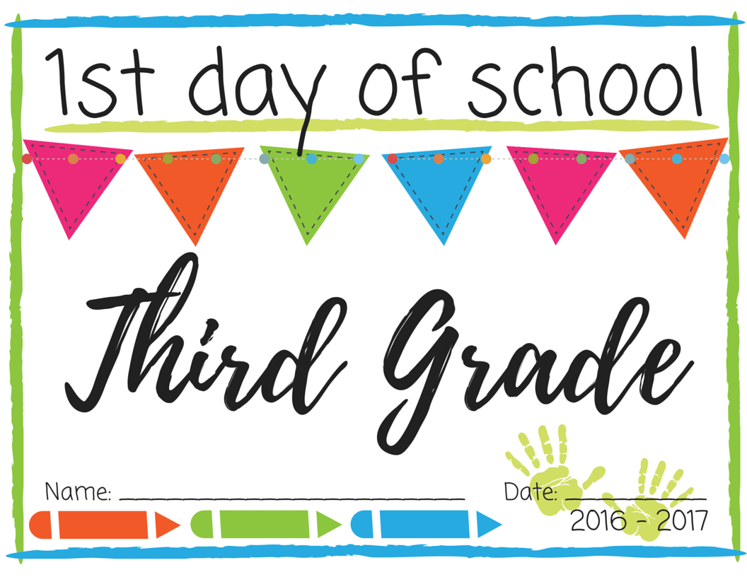This is a graphic of Canny First Day of 3rd Grade Printable