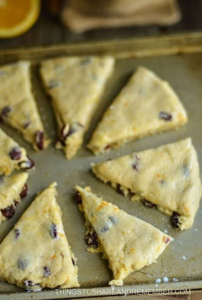 Orange Cranberry Buttermilk Scones
