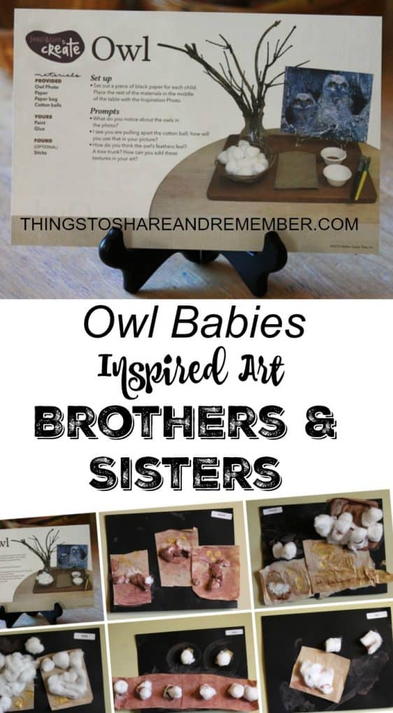 Owl Babies Inspired Art Brothers & Sisters
