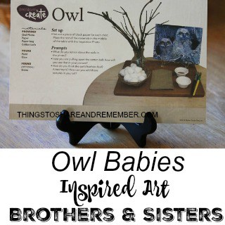 Owl Babies Inspired Art Brothers and Sisters