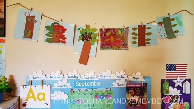 apple tree art display