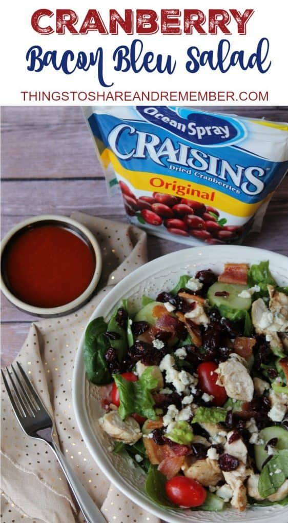 CRANBERRY BACON BLEU SALAD #BETTERWITHCRAISINS #AD