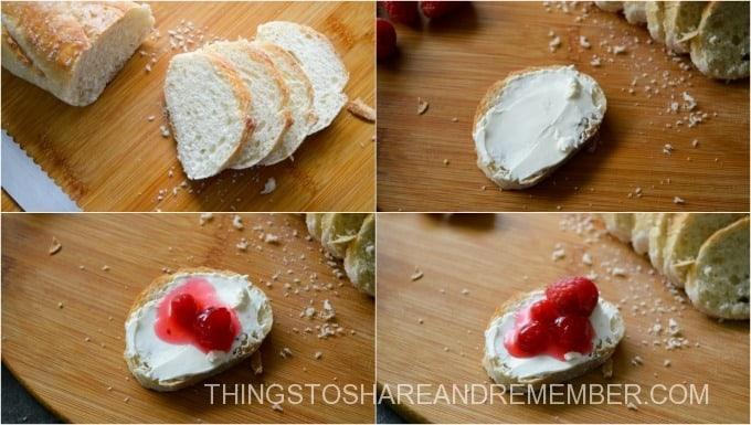 Cranberry Raspberry Cream Cheese Bruschetta