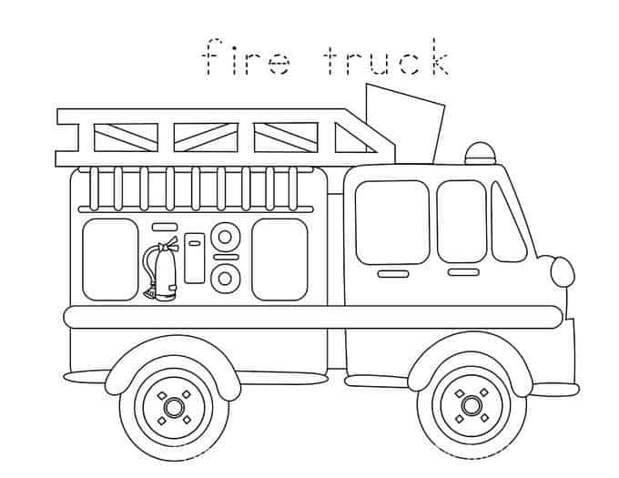 Divine image within fire truck template printable