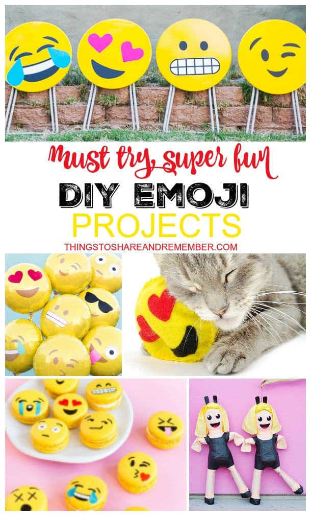 Must Try Super Fun DIY Emoji Projects