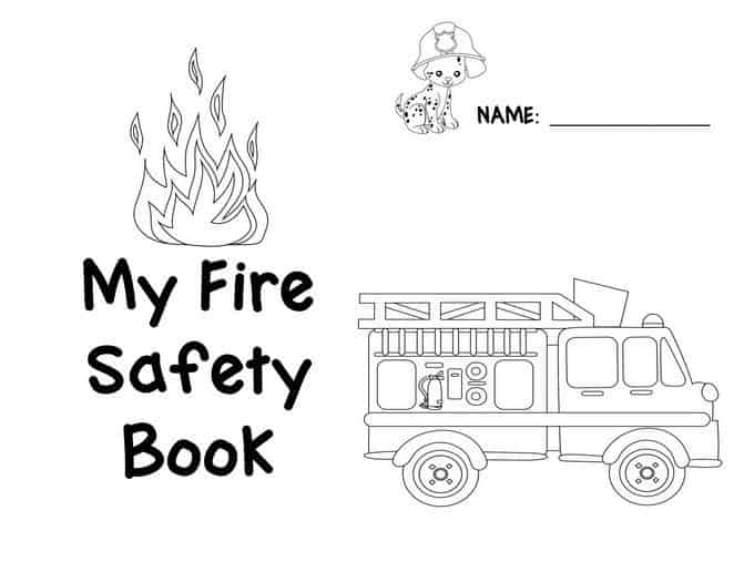 Impertinent image in fire safety printable