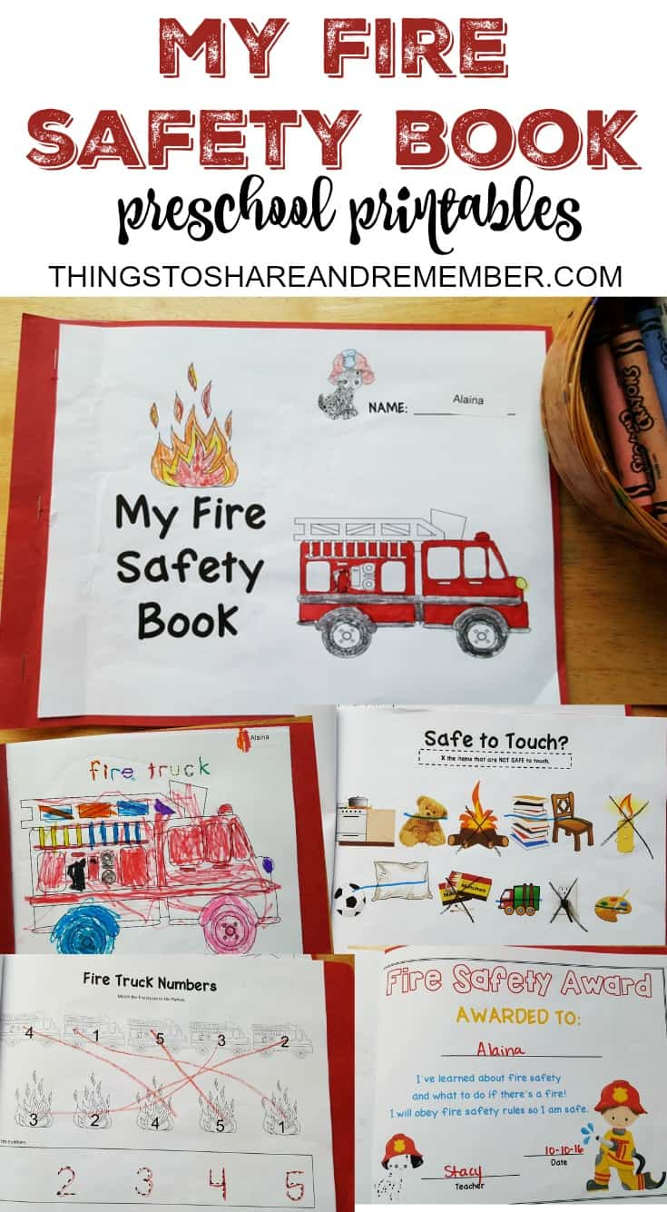 - Preschool Fire Safety Booklet Printables