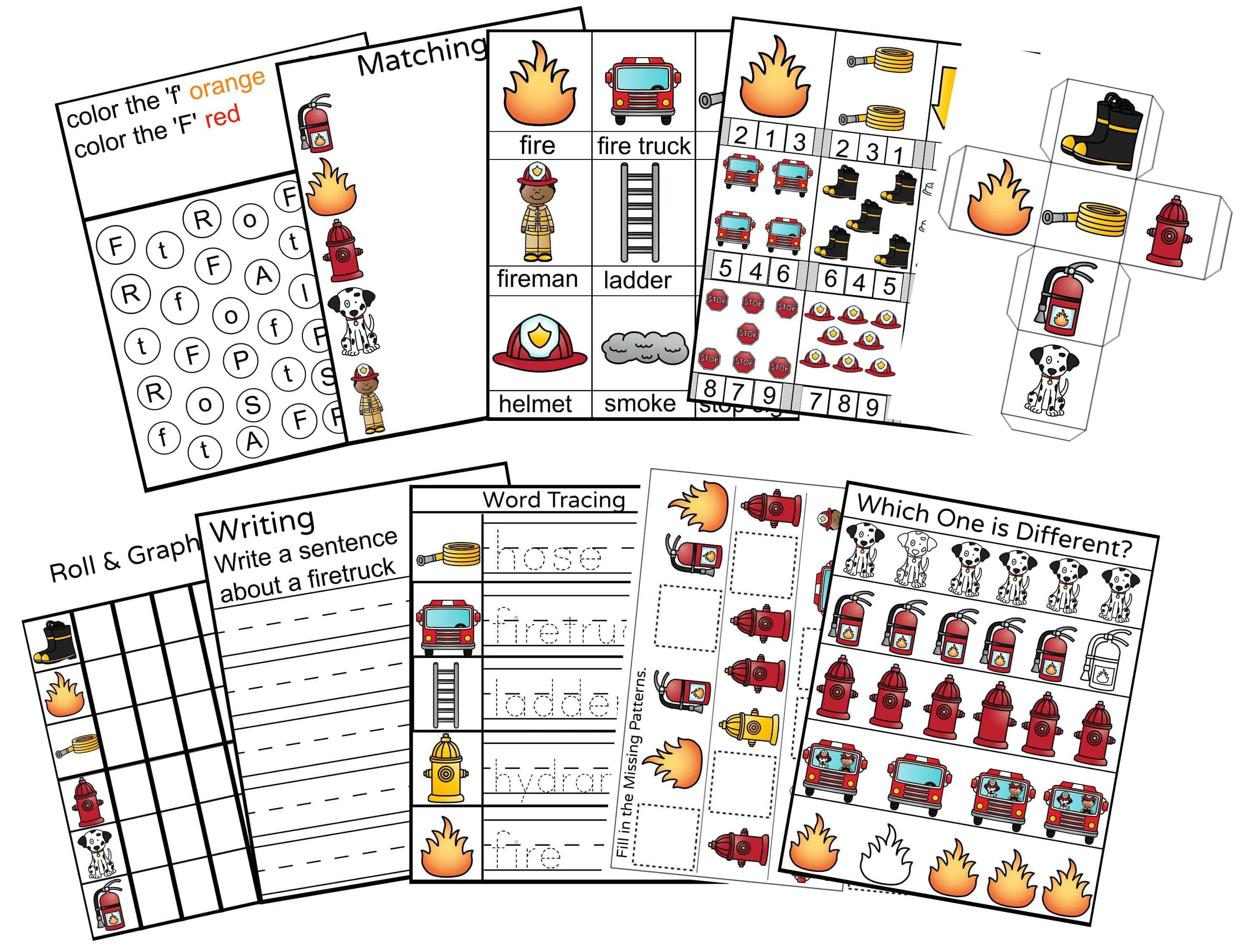 Fire Safety Preschool Printable Activity Pack on Preschool Art Lessons