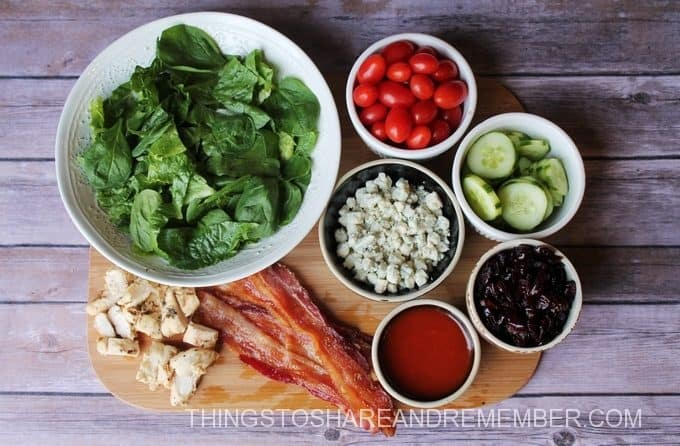 Cranberry Bacon Bleu Salad Ingredients #BetterWithCraisins