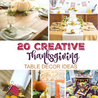 20 Creative Thanksgiving Table Decor Ideas