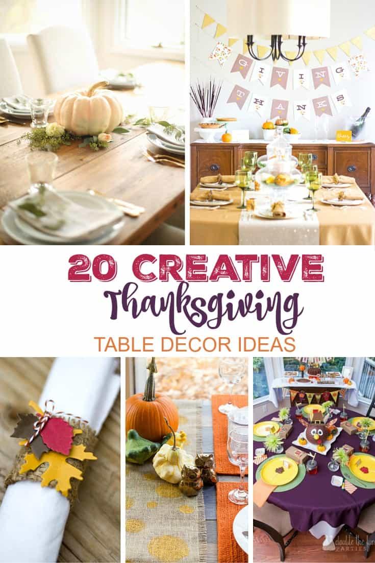 Creative Thanksgiving Table Decor Ideas