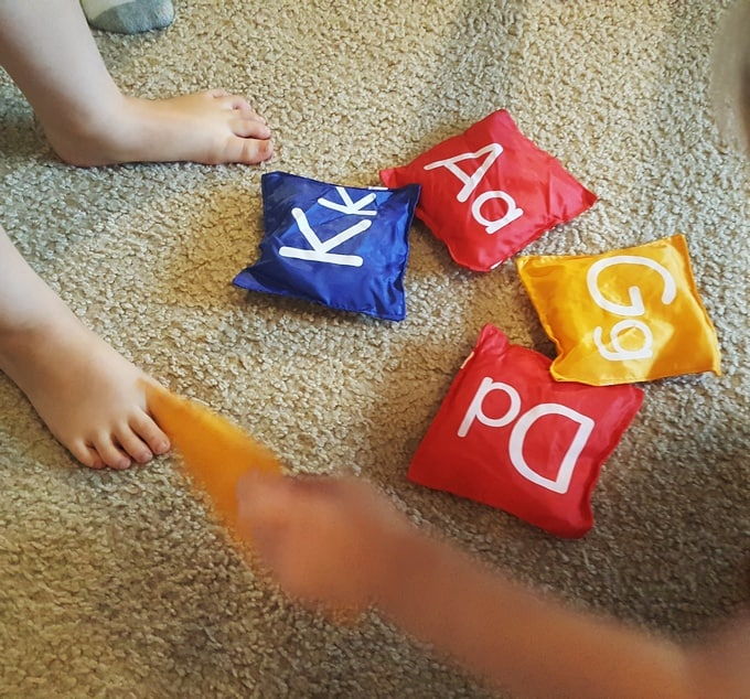bean-bag-letter-game