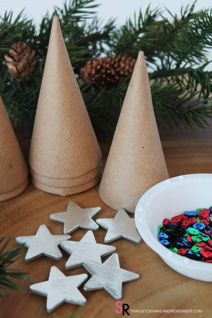 Sparkly Mini Christmas Trees