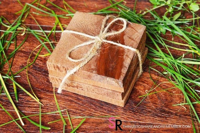 DIY Solid Cedar Coasters handmade holiday gift idea or Father's Day gift