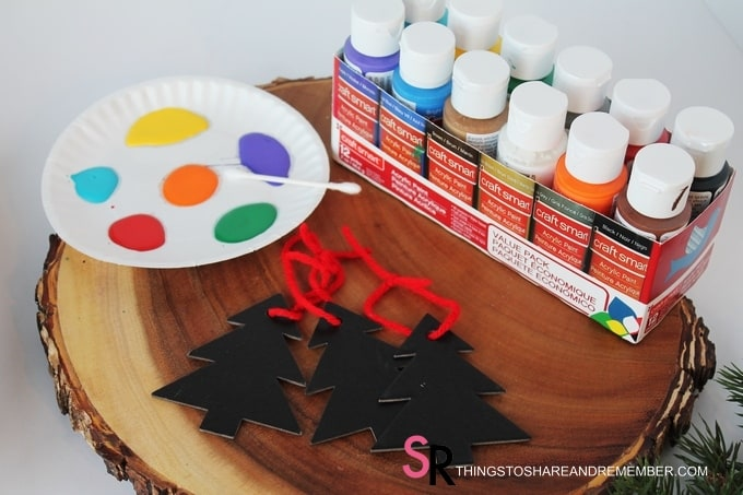 Painted Chalkboard Trees supplies