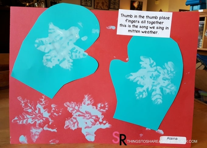 Snowy Mitten Art - The Mitten Song