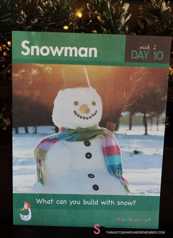 Snowman #MGTblogger Snowstorm Art