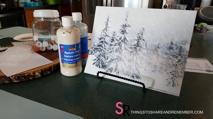 Snowstorm Art Invitation to Create