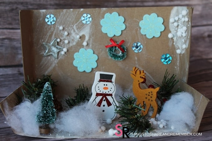 preschool Winter in the Woods Dioramas