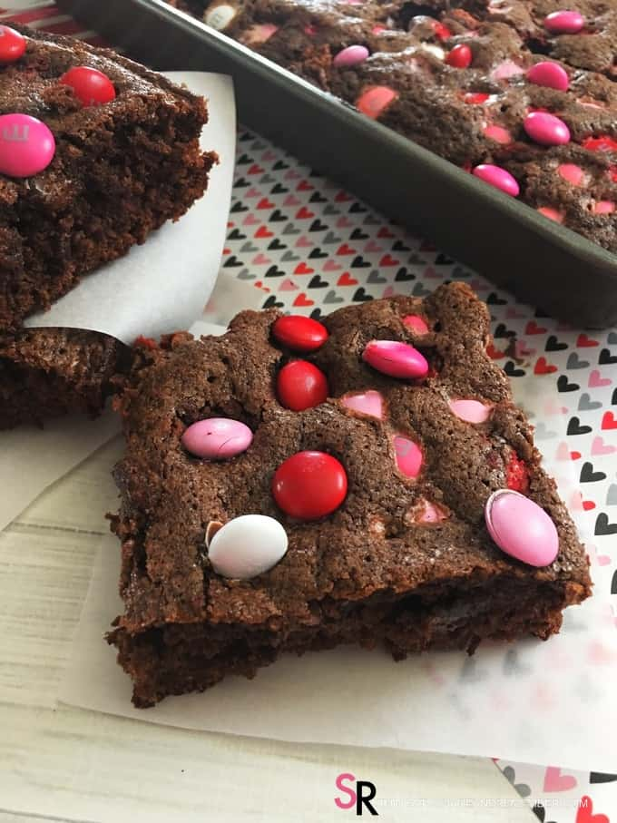 Valentine M&M Brownies