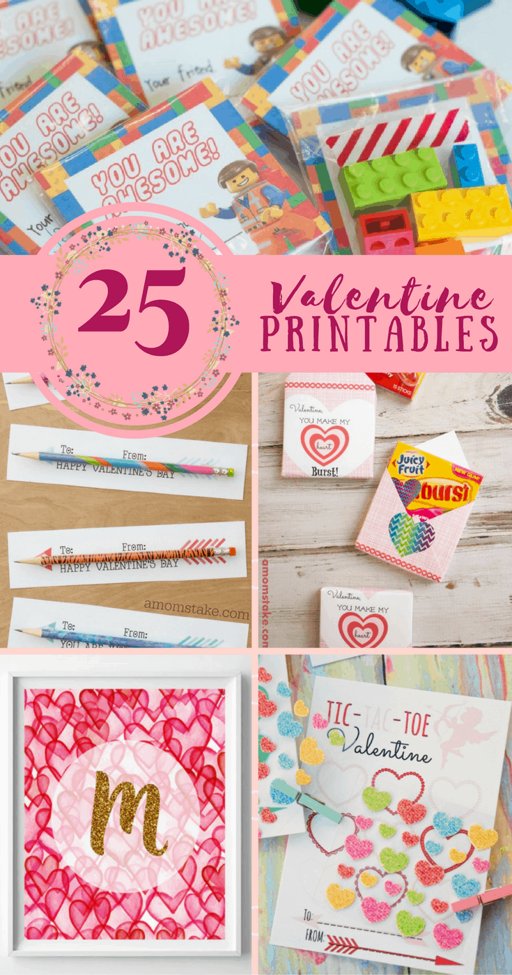 25 Valentine's Day Printables