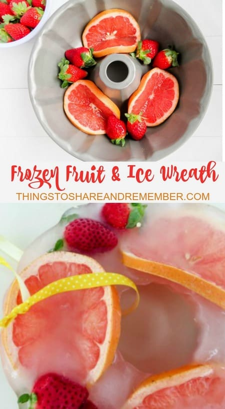 Frozen Fruit & Ice Wreath