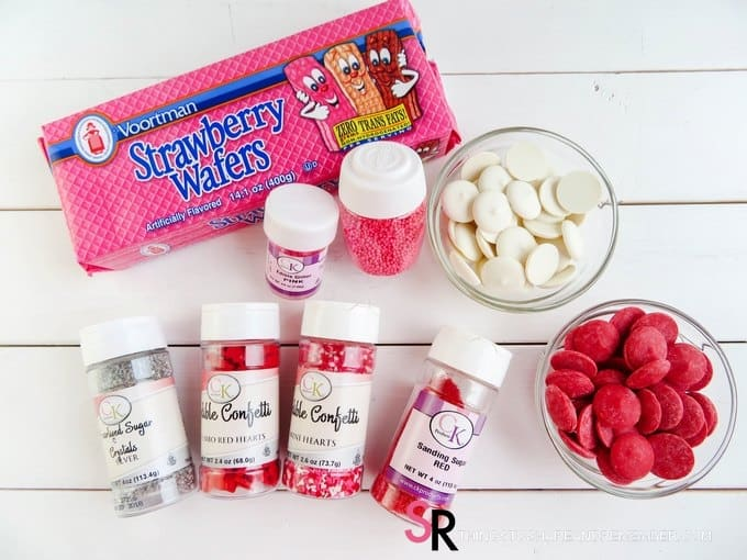 Valentine Dipped Wafers - ingredients