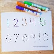 number tracing sheet